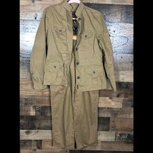 Ralph Lauren khaki jacket & pants set